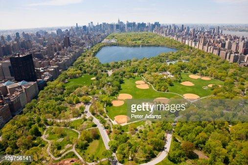 Aerial View Central Park, Manhattan, New York, USA