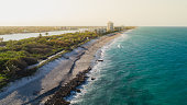 Aerial View Coast at Coral Cove Jupiter