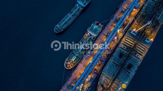 Vue aérienne brut pétrolier : Photo
