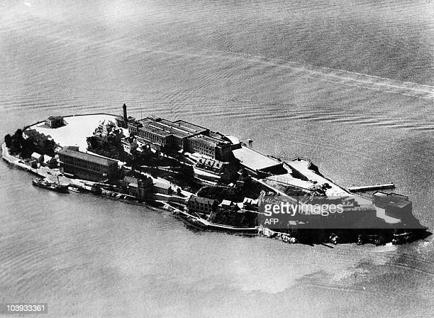 Aerial view dated 1930's of the Alcatraz island and penitentiary in the San Francisco Bay From the mid 1930's until the mid 1960's Alcatraz was...