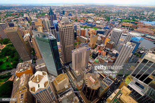 Aerial View Downtown Sydney Australia