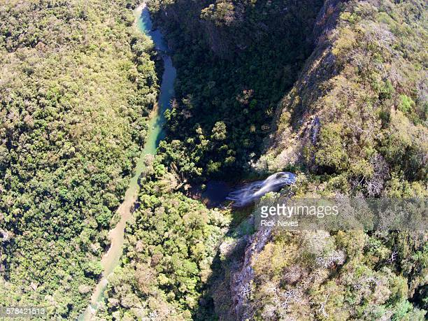 Aerial view from brazilian waterfall