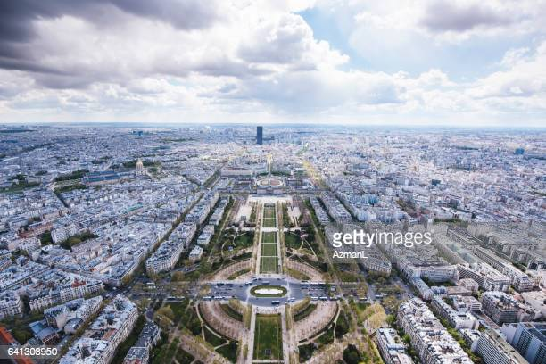 Aerial view from the Eiffel Tower in Paris