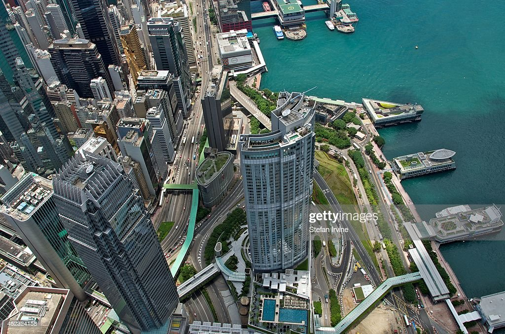 Aerial View From The Rooftop Of Ifc 2 Showing The Four Seasons Hotel Pictures Getty Images