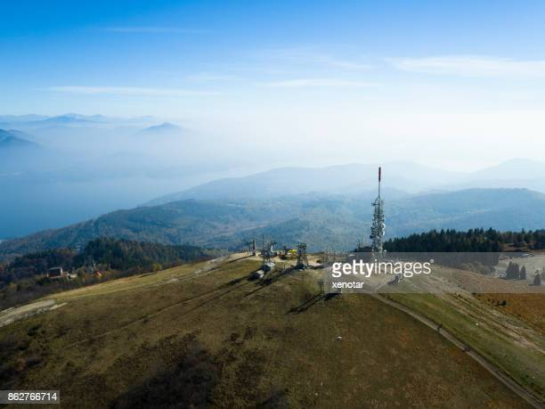 Aerial view from the top of Mottarone mountain
