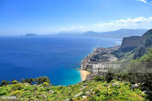 Aerial view in Sicily, Italy