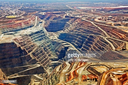 Aerial view , Kalgoorlie Super Pit gold mine