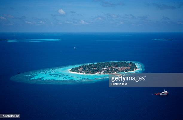 Aerial view Maldives Islands Maldives Islands Indian Ozean Ari Atol