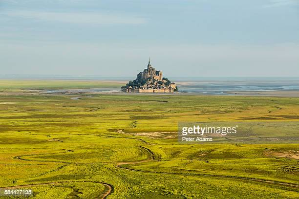 Aerial view, Mont St Michel, Manche, Normandy