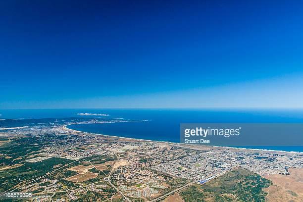 Aerial view, Monterey, Monterey Bay, California