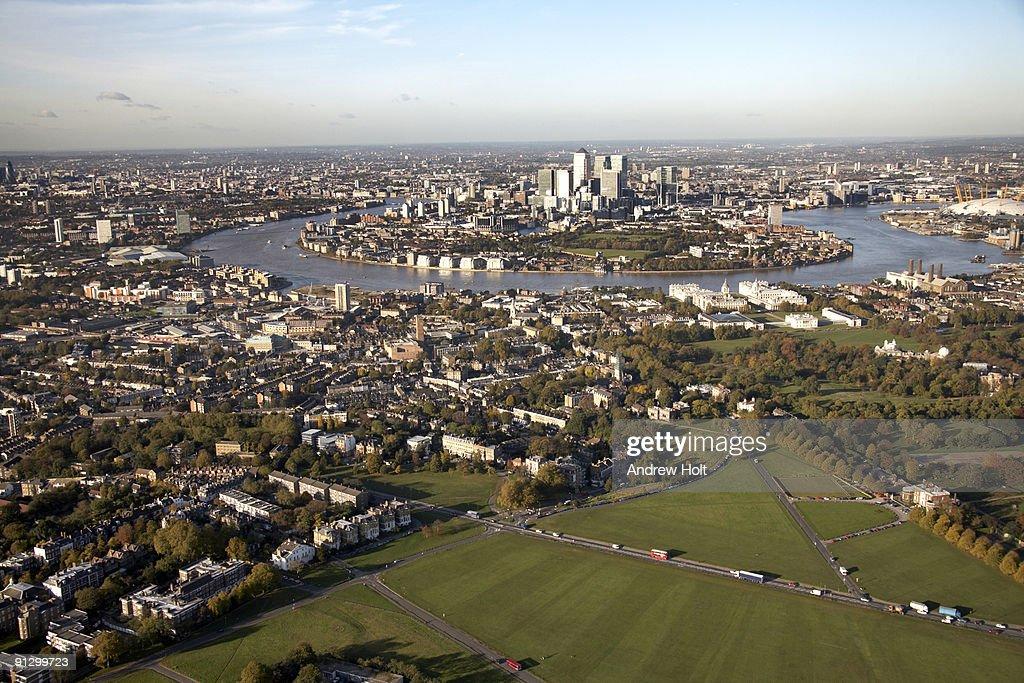 Aerial view north of Black Heath