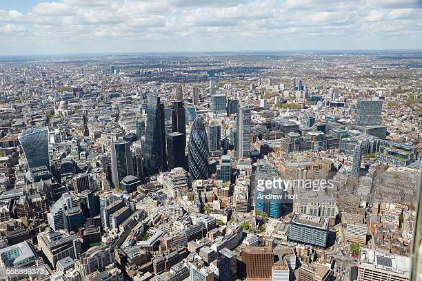 Aerial view North west, City of London Towers
