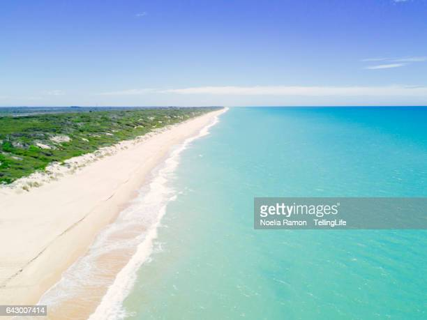 Aerial view of 90 mile Beach and landscape, Victoria, Australia