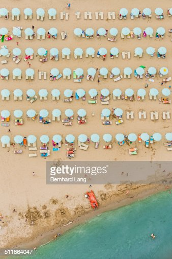 Aerial View of a beach at the adriatic coastline