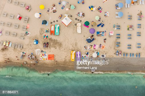 Aerial View of a beach at the sea