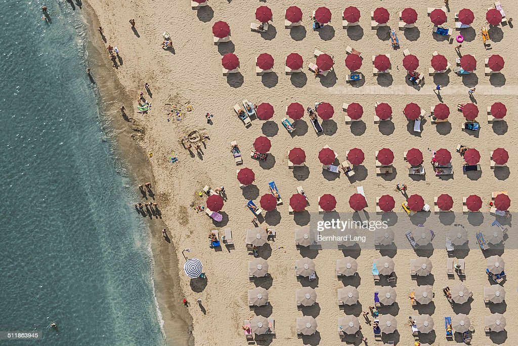 Aerial View of a beach in Italy : Stock Photo