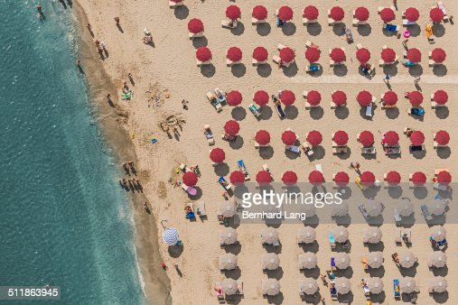 Aerial View of a beach in Italy