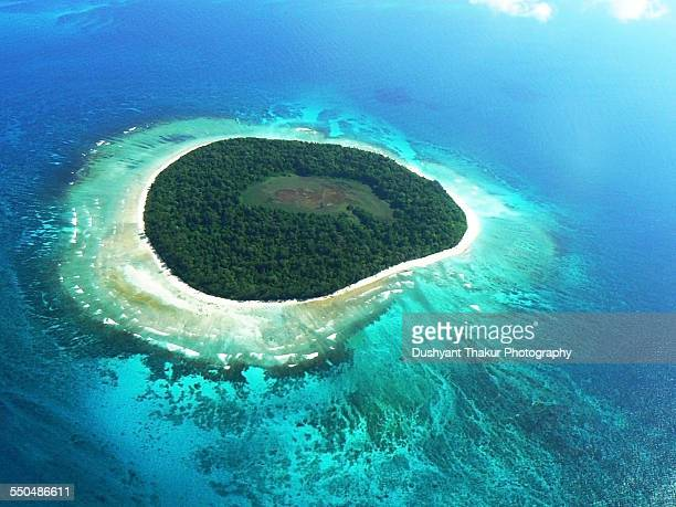 Aerial view of a beautiful island