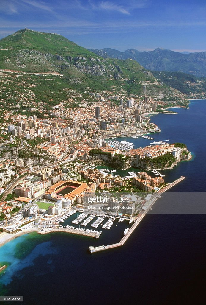Aerial view of a city, Monte Carlo, Monaco, France