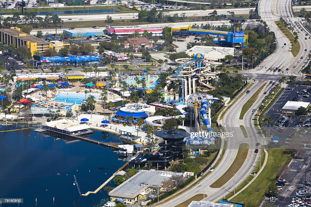 Aerial view of a city, Orlando, Florida, USA : Foto de stock