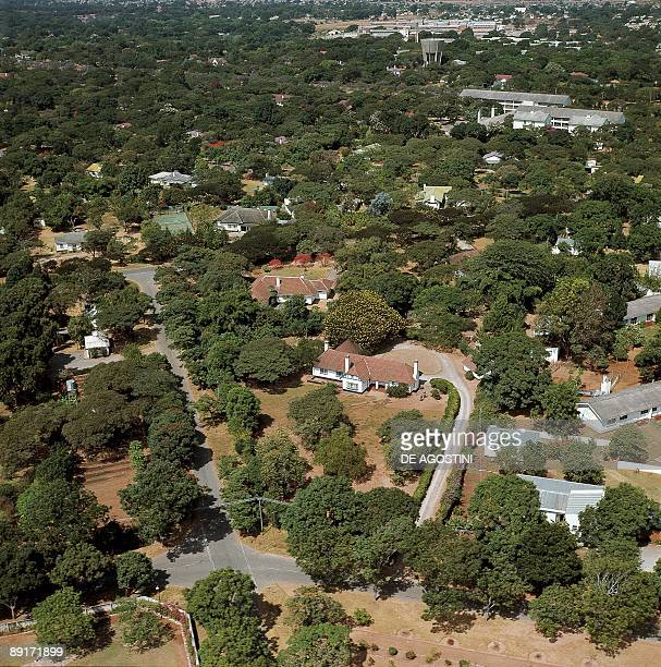 Aerial view of a city Suburbia Lusaka Zambia