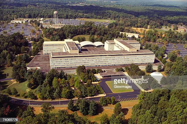 Aerial view of a government building, CIA headquarters, Virginia, USA