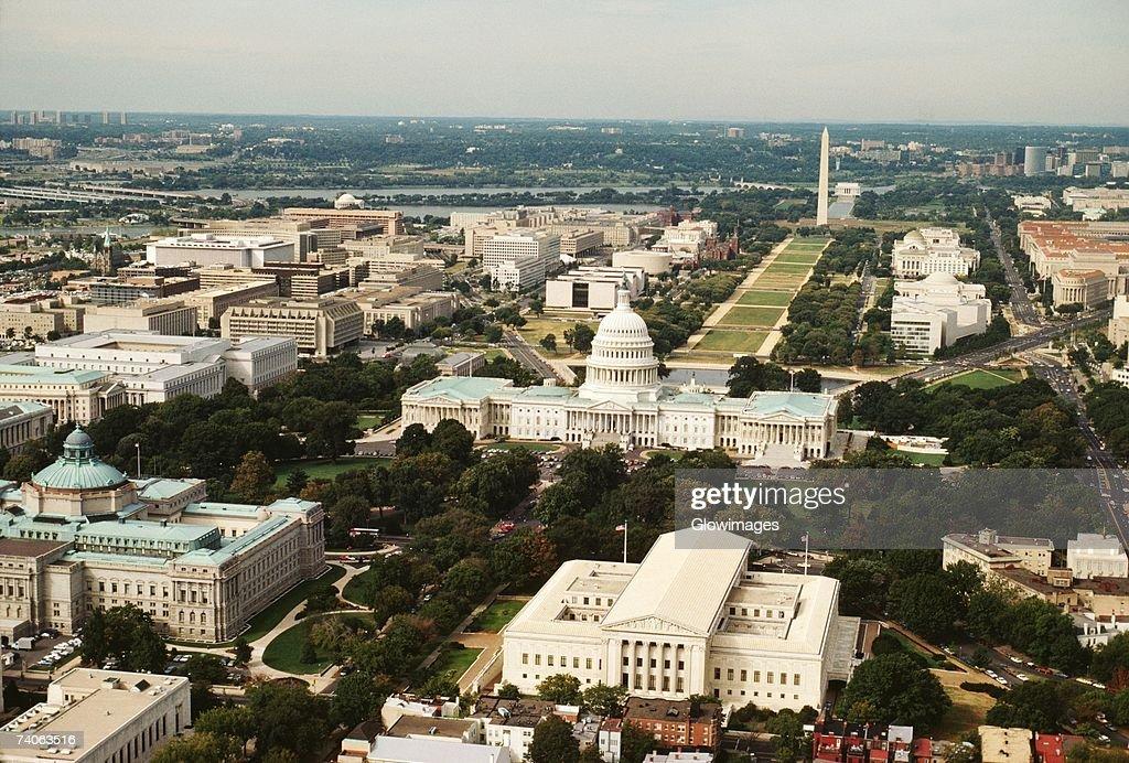 Aerial view of a government building, Washington DC, USA