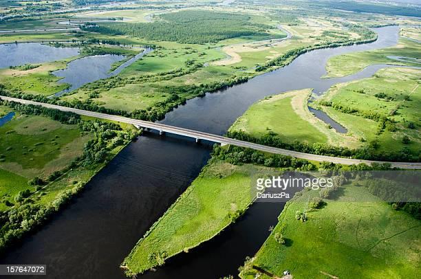 aerial view of a motorway