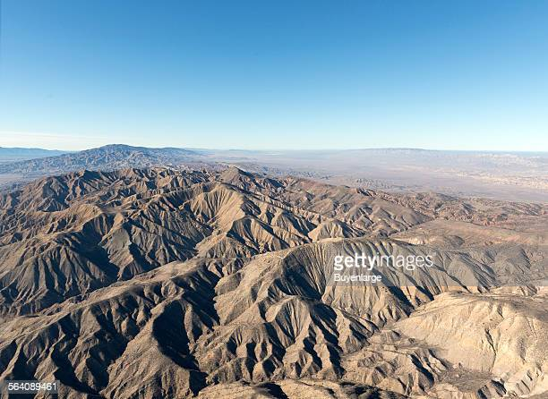Aerial view of a portion of the San Andreas fault in California Sierra Madre Mountains midway between Bakersfield and Santa Barbara