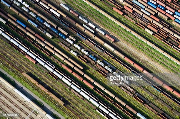 Veduta aerea di una ferrovia