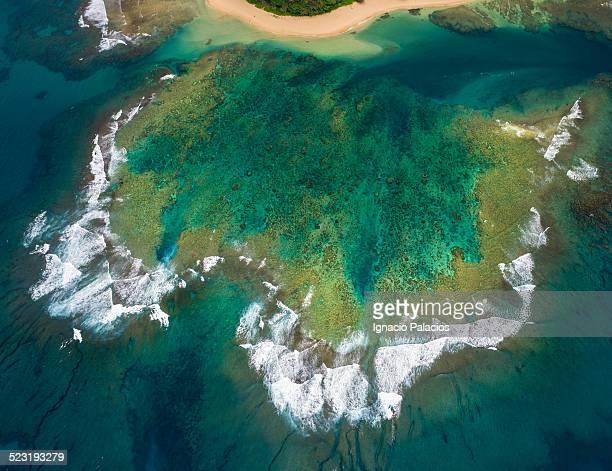 Aerial view of a reef, Kauai