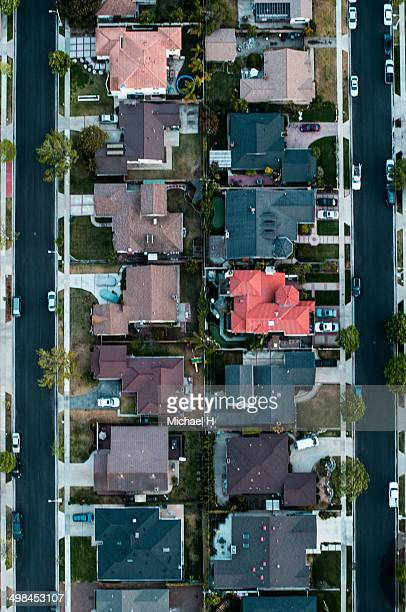 Aerial view of a residential area,LA