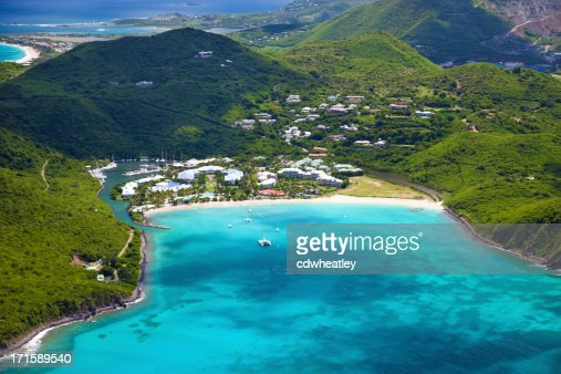 aerial view of a resort in St.Martin, French West Indies