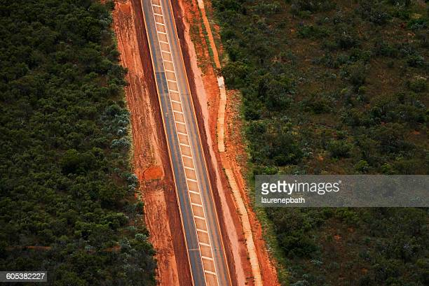 Aerial view of a Road, Broome, Australia
