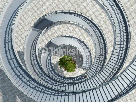 Escalera de caracol : Foto de stock