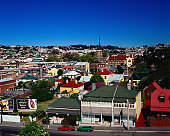 Aerial view of a street in Launceston - Tasmania