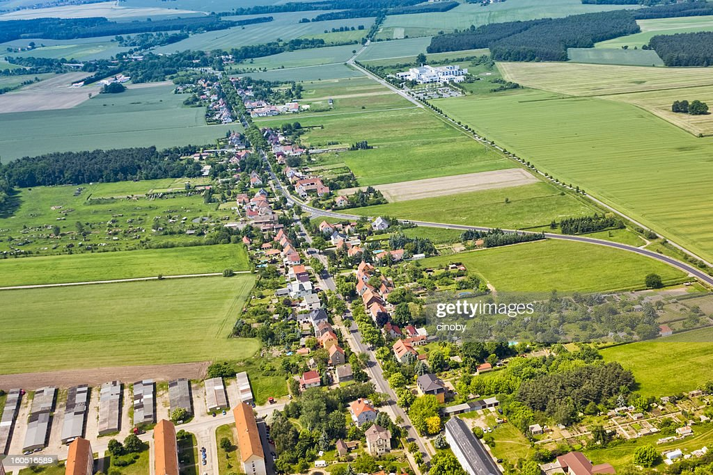 Aerial view of a Suburban area : Stock Photo