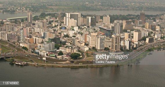 Aerial view of Abidjan - Le Plateau
