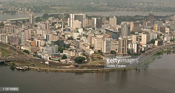 Aerial view of Abidjan - Le Plateau