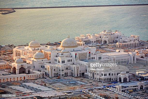 Aerial view of Abu Dhabi Presidential Palace