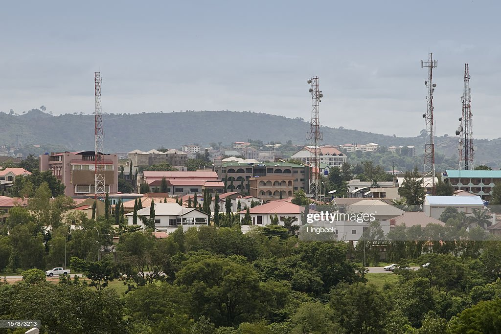 Aerial view of Abuja, Nigeria : Stock Photo