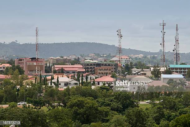 Aerial view of Abuja, Nigeria