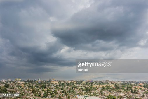 Aerial view of Addis Ababa : Stock Photo
