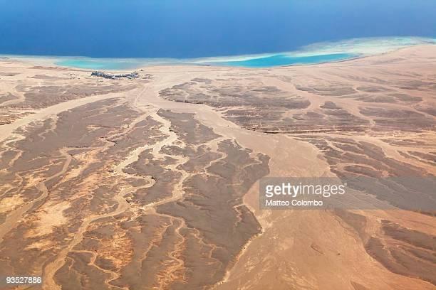 Aerial view of african oriental desert
