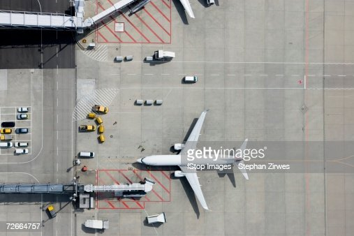 Aerial view of airplane