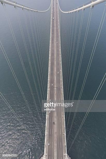 空から見た Akashi Kaikyo ブリッジ