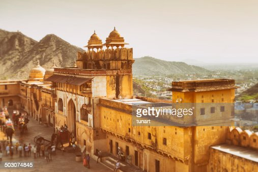 Aerial View of Amber Fort, Jaipur, India