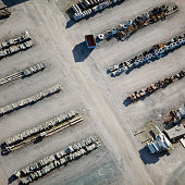 Aerial view of an industrial park, Sweden.