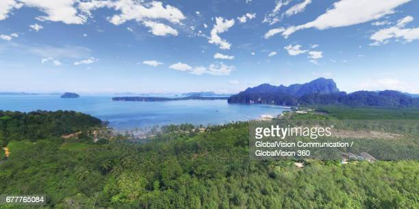 Aerial View of Andaman Sea and Khao Thong in Krabi