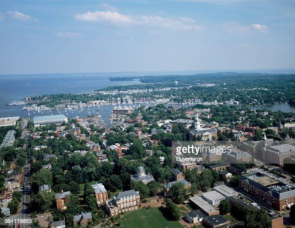 Aerial view of Annapolis Maryland